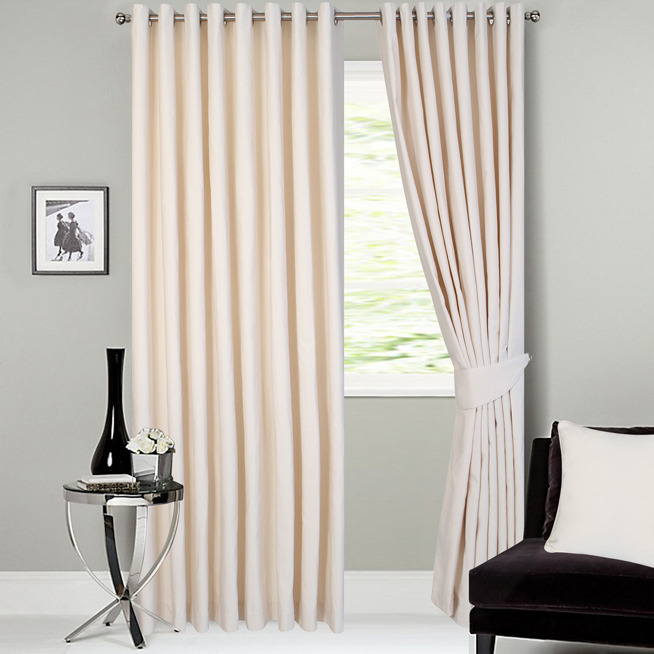 Alfi Ready Made Jacquard Curtains