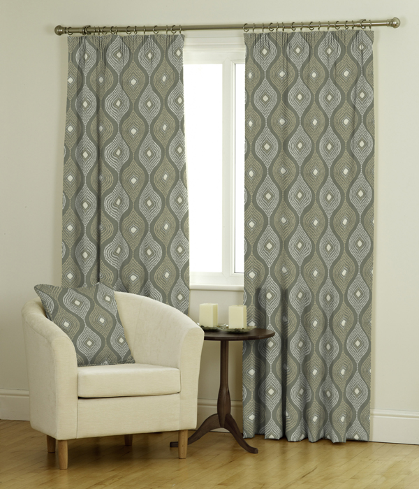 Ava Ready Made Jacquard Curtains & Roman Blind