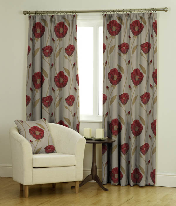 Freesia Ready made Jacquard Curtains