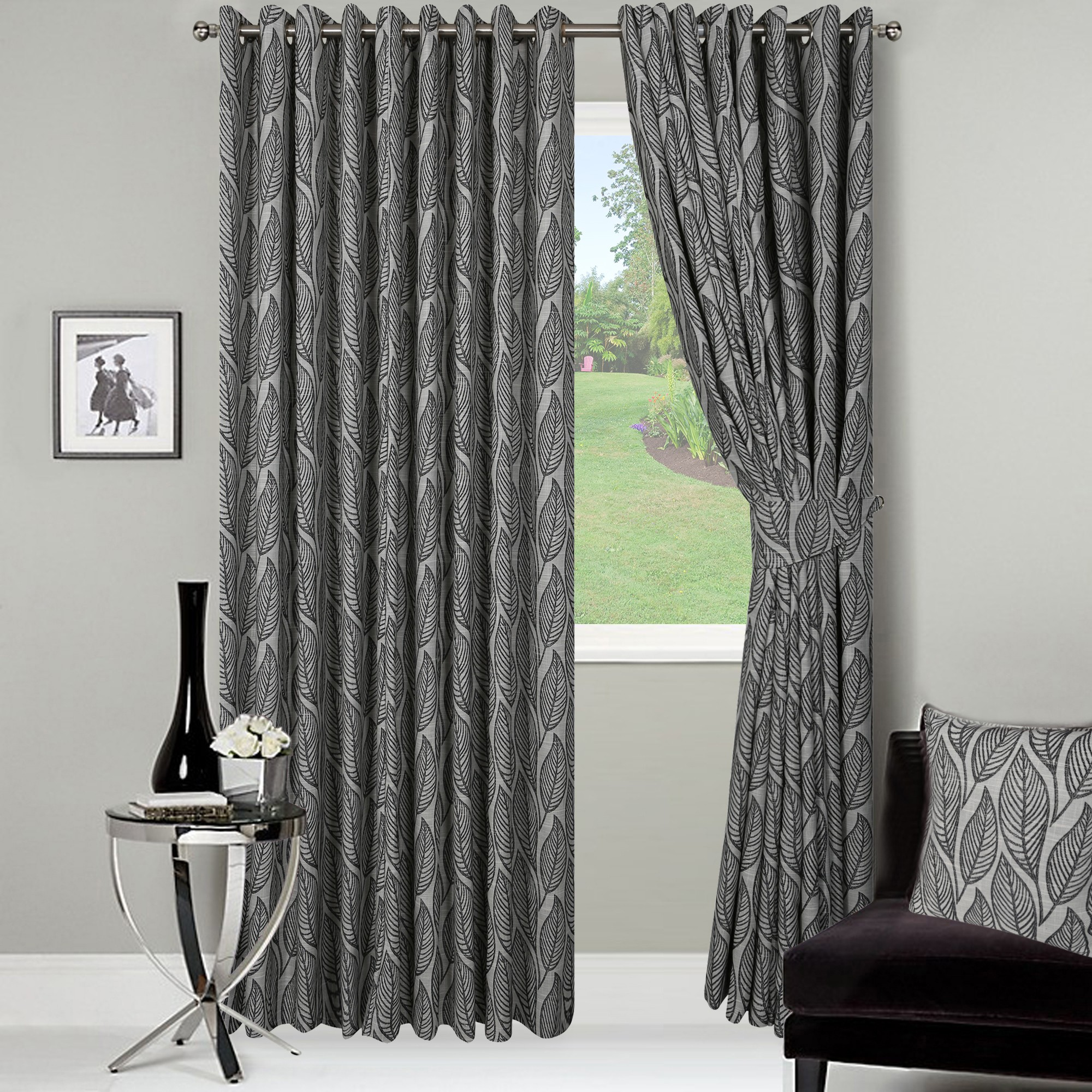 long wide and bay window curtains providing hard to get. Black Bedroom Furniture Sets. Home Design Ideas