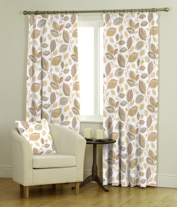 Oakley Ready Made Jacquard Curtains Roman Blind