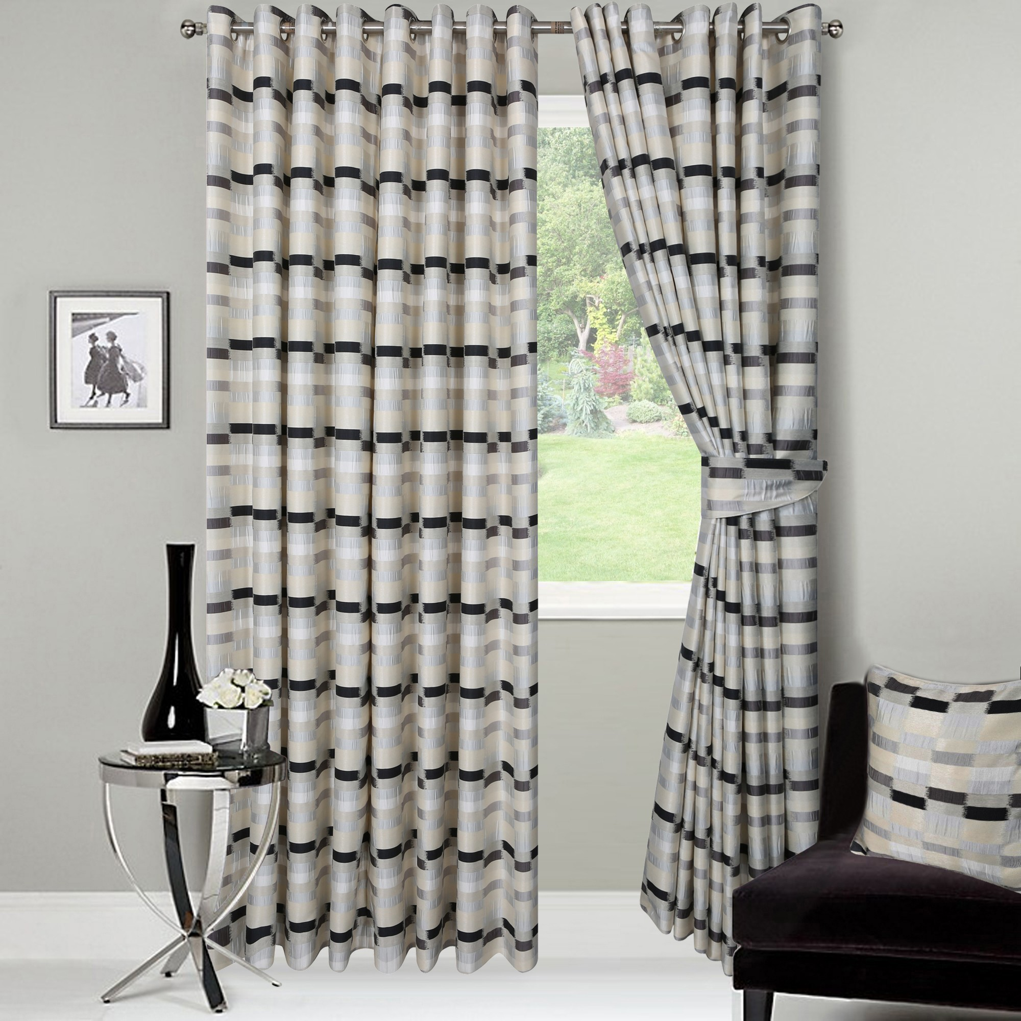 Rumba Ready Made Jacquard Curtains